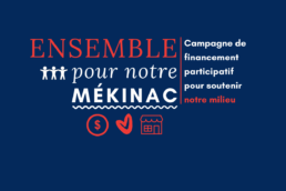 campagne de financement, mékinac, graphisme, marketing